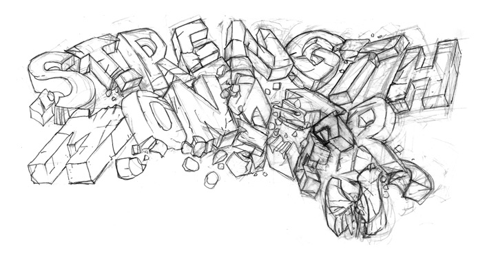 Cover Title Lettering Rough