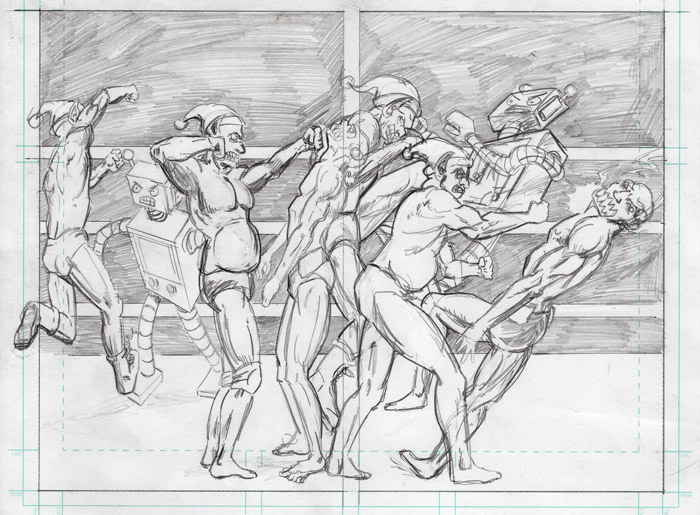 Finished Pencils Battle Royal
