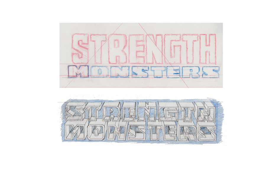 new strength monsters lettering