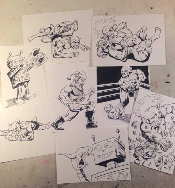 All Sketch Cards Done